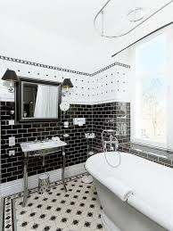 Houzz Black And White Bathroom Popular Of Black And White Tile Bathroom And 71 Cool Black And