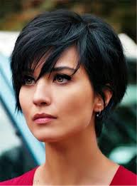 pixie hair for strong faces layered natural black pixie short messy synthetic hair with