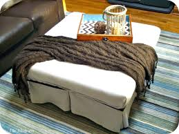 Large Leather Storage Ottoman Coffee Table by Ottoman Astonishing Appealing Rectangular Tufted Ottoman Coffee