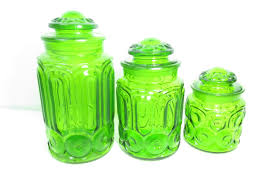 vintage kitchen canisters glass jars ebay canister sets antique blue glass kitchen