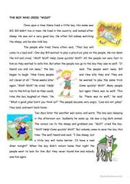 77 free esl fables worksheets