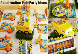 construction party ideas construction pals party theme planning ideas supplies boys