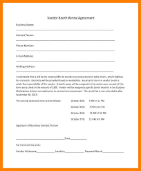 booth rental agreement templaterental agreement letter day