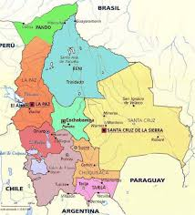 south america map bolivia administrative map of bolivia with major cities bolivia south