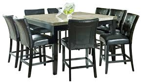 steve silver monarch 9 piece marble top counter height set