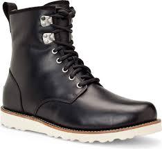 mens black leather motorcycle boots ugg australia men u0027s hannen free shipping u0026 free returns casual