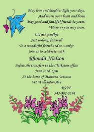 farewell party cards ideas funny white themed colors with