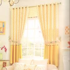 curtains for livingroom polk dot yellow bay window curtains for living room