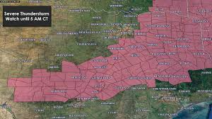 Map Of Texas Hill Country Severe Thunderstorm Watch For East Texas Brazos Valley Central