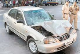 road accidents in india speeding car lands three teens in hospital