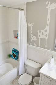baby bathroom ideas use decals on the walls such as animals and other images