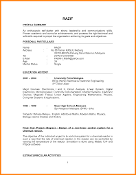 simple resume sle for fresh graduate pdf to excel resume sle pdf malaysia complete resume sle fresh graduate