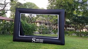 holiday styling inflatable screen review backyard movies