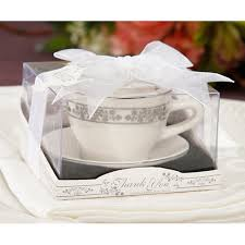 tea cup favors tea cup and saucer with tealight candle candle holder wedding