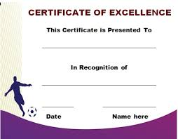 30 free printable football certificate templates awesome designs
