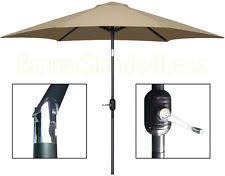 Frontgate Patio Umbrellas Frontgate 10 U0027 Square Side Mount Patio Umbrella Bronze Brown Handle