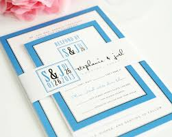 blue wedding invitations blue modern wedding invitations with unique logo unique logo