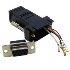 modular adapter db9 female to rj12 black