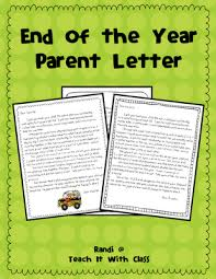 teach it with class end of the year parent letter