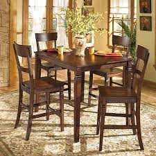 Signature Design By Ashley Barrister Rustic Brown Counterheight - Ashley dining room chairs