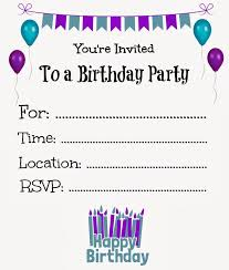 party invitations templates free printable birthday invitation templates vastuuonminun
