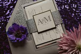 fancy wedding invitations real wedding and silver glitter wedding invitation