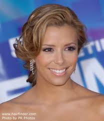 side view of pulled back hair in a bun eva longoria wearing her hair pulled back and paris hilton s do it