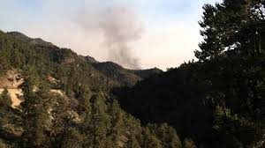 Wildfire Near Markleeville Ca by Washington Fire From North Of Leviathan Mine Youtube