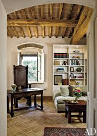 Tuscan Style Homes Interior by Rustic Office Library By Spectrum Interior Design And Marco