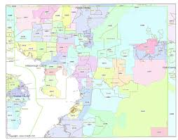 Chicago Area Zip Code Map by Map Of Tampa Zip Codes Zip Code Map