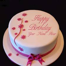 write your nick name on happy birthday cakes online
