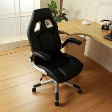 ergonomic swivel video game chair w rolling wheels flipup armrest