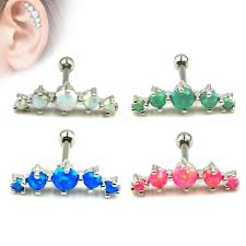 bar earring cartilage aliexpress buy 16g ear cartilage bar helix piercing