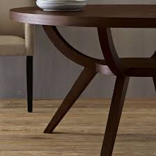 west elm arc l attractive round wood dining table within arc base pedestal west elm
