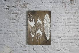 rustic feather sign wood signs wooden signs rustic decor