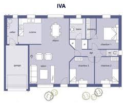 plan de maison 100m2 3 chambres plan maison 3 chambres 80m2