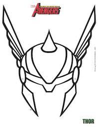 Ausmalbilder Thor Frisch Masque Imprimer Masque De Thor Découper