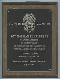 retirement plaque miami veteran site