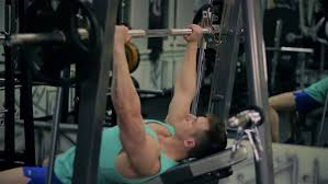Bench Pressing With Dumbbells Handsome Athletic Man Taking Dumbbells And Go To The Bench To Do