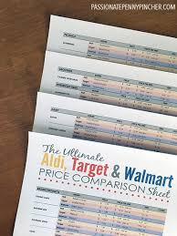 target black friday pdf the ultimate aldi target u0026 walmart price comparison sheet