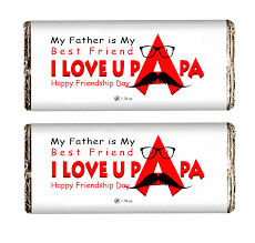 buy i love you papa chocolate bar on friendship day online