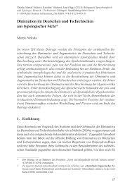 Wellmann K Hen Diminution Im Deutschen Und Tschechischen Aus Typologischer Sicht