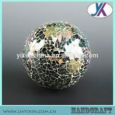 wholesale 10cm ornamental mosaic polyfoam hollow glass