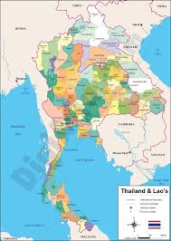 Map Of Laos Vectorized Maps Digital Maps Increase Search Engine Traffic