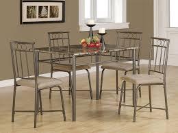 brown metal 5 piece dining room set coaster furniture furniture cart