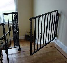 Baby Gate For Bottom Of Stairs With Banister Custom Stairway Gates