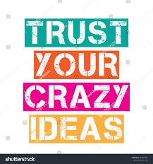 inspirational quotetrust your ideas vector stock vector