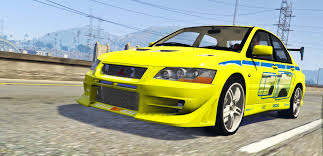 mitsubishi yellow 2f2f edition 2002 mitsubishi lancer evolution vii gta5 mods com