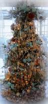copper brown gold and blue christmas tree christmas loving