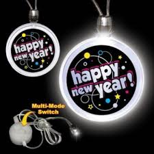 led new years happy new year led necklace new year s party supplies favors